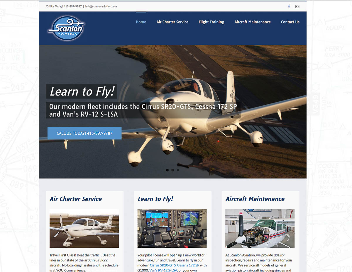 Website for Scanlon Aviation