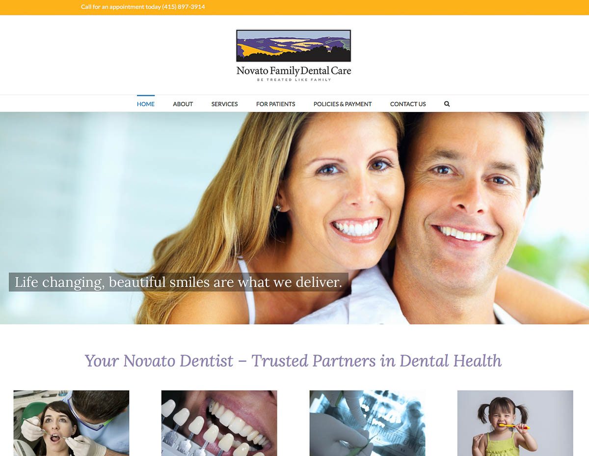 Website for Novato Dental