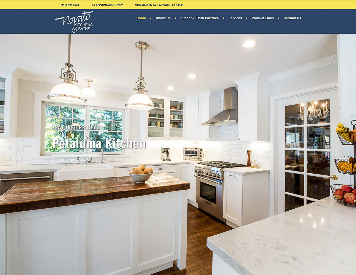 Website for Novato Kitchens
