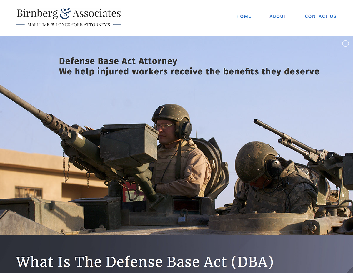 defense base act lawyer - Marin Website Design